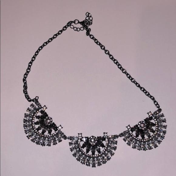 Jewelry: Grey/Silver Statement Necklace